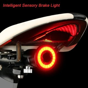 Bike Light Bicycle Taillights Intelligent Brake Induction Mountain Lights USB Charging Bicicleta Led #e