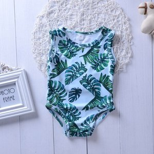 Leave Swimsuit Kids Baby Girls Green Tankini Bikini Swimwear Bathing Suit Green Summer Cute Two-pieces or One-piece Set Clothing 189 Z2