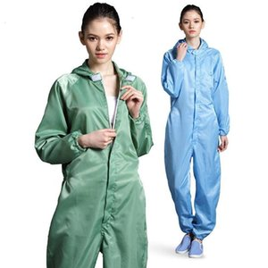 Anti -Static Coveralls Clean Clothes Hood Cleanroom Garments Clean Food Dust -Proof Paint Work Clothing Unisex Protective Overalls In Stock