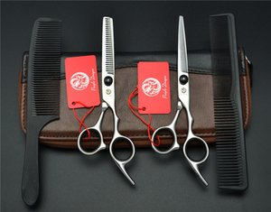4Pcs Suit 6'' Black Purple Dragon Professional Human Hair Hairdressing Sears Combs Cutting Scissors + Thinning