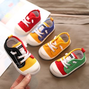 Walking shoes Boys Canvas Shoes Sneakers Girls Tennis Lace Up Children Peuter Geel Chaussure Zapato Casual Kids 210827