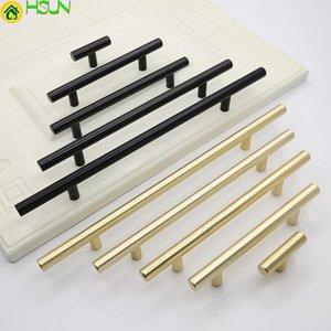 Handles & Pulls 2 Pcs Solid Long Handle Aluminum Alloy Black Gold Copper Modern Simple Wardrobe Door Cabinet Drawer