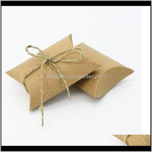 Decoration Fashion Cute Kraft Pillow Box Wedding Party Favor Candy Boxes Paper Gift Bags Wa3248 Fpqak Zz2Xh