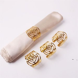 Wedding Napkin Rings Metal Holders For Dinners Party Hotel Table Decoration Supplies Buckle BWE5929