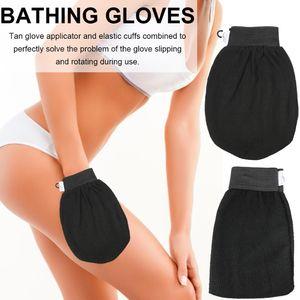 Single Layer Exfoliator Mitt Black Bath Shower Dead Skin Removal Gloves Exfoliating Gloves Bath Gloves Scrubbing 1000 pcs DHL