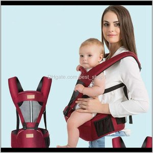Carriers, Slings Safety Gear Baby, & Maternity Drop Delivery 2021 Breathable Baby Waist Stool Comfortable Kids Shoulders Carrier With Hip Sea