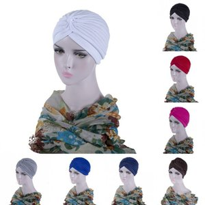 2020 Women Fitted Hats Shower Bath Bonnet Cap Solid Color Lady Fold Knot Headband Fashion Spring Autumn 2 2yj G2