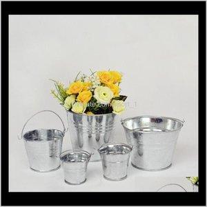 Planters Pots Supplies Patio Lawn Drop Delivery 2021 Gaanized Buckets Storage Metal Flower Pot Vase Bucket Garden Home Decor Tin Planter Kka1