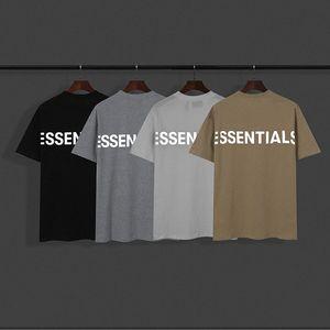 20ss instiflectores camiseta primavera verano hip hop miedo a dios frontales esenciales 3d silicon tee skateboard camiseta niebla hombres mujeres corta SL x2zb #