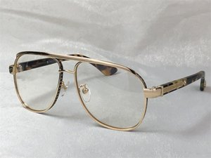 Новые Мужчины Оптические Отечки Boneyard I Дизайн Очки Квадратная Металлическая Рамка Стиль Прозрачный объектив Высокое качество С Прозрачными очками Eyeglasses