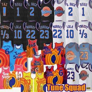 SPAP JAM TUNE Squad Lebron 6 James Basketball Jersey Daffy Duck Brinkback Bill Murray 1/3 Tweety Bird! Taz Bugs Bunny Basketball Homens Juventude