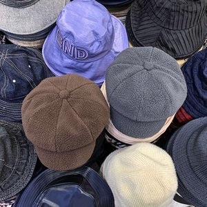 Moda Aksesuarları Chao'nun İyi El Sıcak Sonbahar Ve Kış Sekizgen Kap Kuzu Saç Zarif Düz Renk Bayan Ressamın Spaper Çocuk Şapka