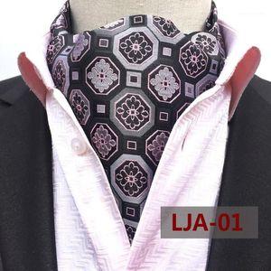 Men's Autumn and Winter New Scarf Polyester Jacquard British Suit Shirt Neckband Cravat1