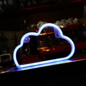Hubs Neon Lights Wall Decoration Usb Or Battery Bedroom Cloud Suitable For Christmas Birthday Parties JHP-