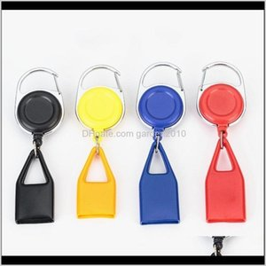 Other Accessories Colorful Lighter Sheath Protective Case Key Buckle Portable Leash Telescopic Rope Shell For Cigarette Smoking Pipe H 3Xjsk