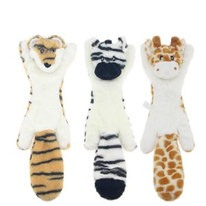 New cute plush toys squeak pet wolf rabbit animal plush toy dog chew squeaky whistling involved squirrel dog toys 585 S2