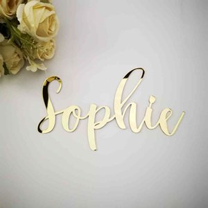 Personalized Kitchen Script Door Plates Decor Wedding Script Name Sign Plaque Wall Sticker Design With Self Adhesive Glue Home 210408