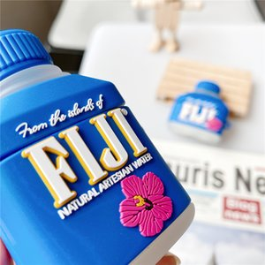 3D Cute FIJI Water Drink Cases For AirPods 3 Headphone Protection Cover Case Silicone Earphone Novelty