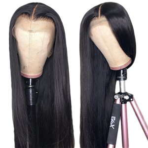 13*4 Swiss lace frontal human hair wigs for black women