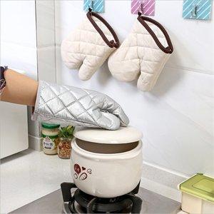 Baking Gloves Microwave Oven Heat Insulation Anti-Scald Silver Pastebrushing Single