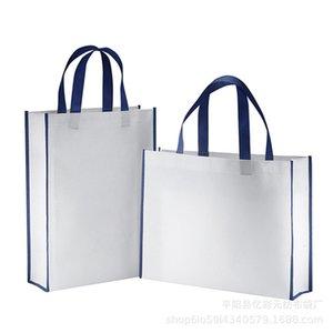 Storage Bags 6pcs Women Men Reusable Foldable Shopping Bag Durable Non-Woven Tote Pouch Handbag Grocery Eco Friendly Arrival 2EP6