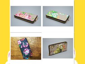 Luxurys Designers Wallet Geranium Print Fashion Bags Card Holder Carry Around Women Money Cards Coins Bag Men Leather Purse Long Business Wallets letter #8