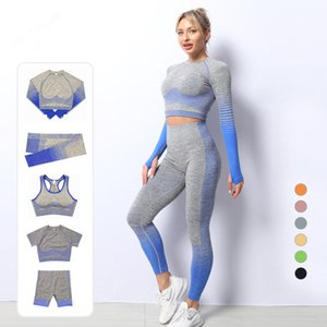 2/3 / 5 pz Leggings senza soluzione di continuità Donne pantaloni da yoga vestito per fitness sport reggiseno womens cotinging sport set da donna vestito per yoga palestra sport