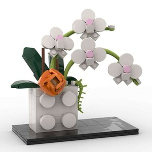 Butterfly Orchid Blossom Flowers Room Decor Action Figures Educational Children DIY Ornaments Birthday Toys
