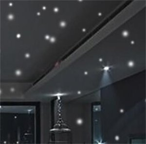 HOT Glow in the Round Dot Dark Star Stickers Luminous Vinyl Wall Stickers Like Star In The Night Romantic Party Birthday 639 S2