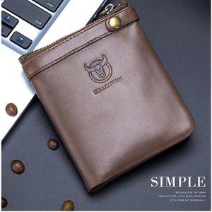 Coin Purses RFID retro leather double folding zipper buckle storage men's wallet 058