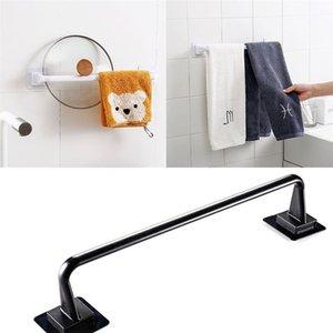 Towel Racks Home Self Adhesive Rod Bar El Bathroom Wall Mounted Holder Rail Rack Single Pole For Kitchen Accessories