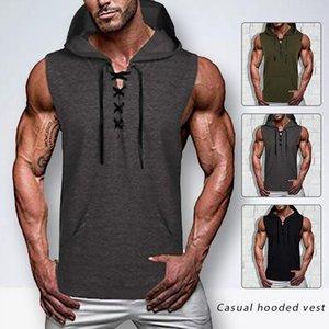 Men's Hoodies & Sweatshirts Sudadera Con Capucha Para Hombre, Camiseta Sin Mangas Entrenamiento, Chaleco Capucha, Ropa Interior Ajustada De