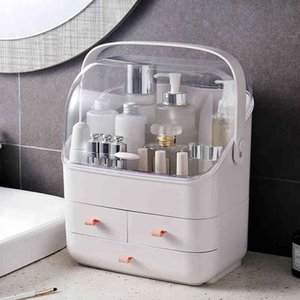 Large Capacity Cosmetic Organizer Holder Makeup Storage Box Dressing Table Container Sundries Case