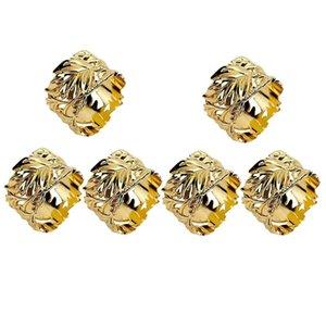Napkin Rings AC86 -Napkin Rings,Leaf Napkins Set Of 6 Exquisite Holders For Easter,Party,Wedding Dinner Decor