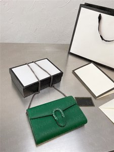 women Satchel Bag green snakehead mark chain Bar crossbody bags luxurious madam Europe and America Fashion envelope shape purse