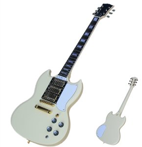 Milk Yellow Electric Guitar with Fixed Bridge Golden Hardware 3 pickups White Pickguard,can be customized