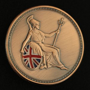British Assault Rifle SA80 Souvenir Coins Bronze Plated Collection Art Military Fans Collectible Gift Weapon Commemorative Coin