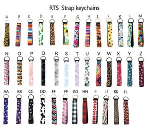 Party Neoprene Wristlet Keychains Lanyard Serape Prints Strap Band Split Ring Key Chain Holder Keys Hand Wrist Lanyards Keychain For Girls Women