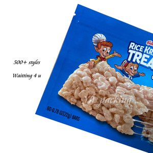 420 Treat edibles Packaging Mylar Bags 710 Sour Krispies Edible Package For Rice Bag Smell Proof Zipper Resealable Poly Packed