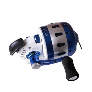 BL35 Fishing Reel 6+1BB Hunting Slingshot Closed Metal Coil Wheel Compound Bow Outdoor with wristband 5#PE line 55M L0331