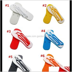 Other Toilet Supplies Garden Drop Delivery 2021 Sublimation Blanks Slippers Rubber Flat Bottomed Home Furnishing Flops Men Women Indoors Bath
