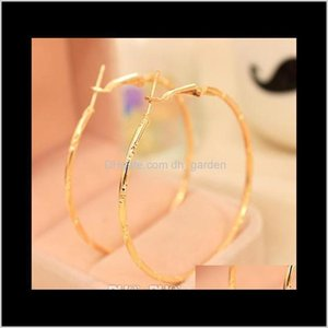 Drop Delivery 2021 Charm Stud Earings Fashion Jewelry Accessories Simple Earing Hoop Hie Circle Earrings Golden Sier Plated Ear Acc Eardrop H