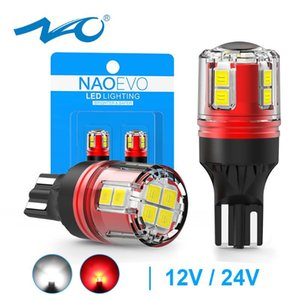 Auto Light W16W 6W 2000Lm T16 12V 24V Mini Size 921 Car Accessories Backup Lamp White Red 912 Reverse Tail Bulb Emergency Lights LED
