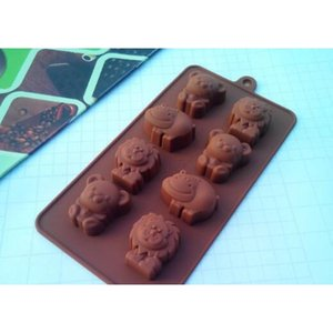 Baking Moulds Bakeware Kitchen, Dining Bar Home & Garden Drop Delivery 2021 Fashion Hippo Lion Bear Shape Sile Mold, Jelly, Chocolate, Soap ,