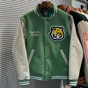 Human Made Varsity Baseball Jacket Men Clothing Women Bomber Coats Harajuku Japanese Racer Streetwear Motorcycle Techwear Park