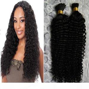 Human hair for braiding bulk no attachment 200g deep curly braiding human hair no weft 2 pcs brazilian braiding hair bulk no weft