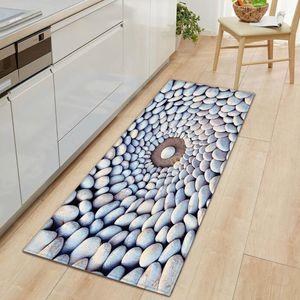 Carpets Stones Entrance Door Mat Flannel Kitchen Carpet Mats Soft Doormats Rugs For Living Room Bedroom Bathroom