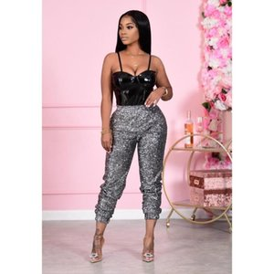 Women's Pants & Capris Trousers, Club Party Autumn And Winter Fashion Sexy Sequined Ladies Casual Bottoming