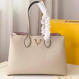 Shopper Sac à main sac à bandoulière grande capacité Dame Graceful fourre-tout Sacs Véritable Cuir Mode Lettre de mode Verrouillage à l'intérieur du matériel de couleur d'or de poche plat