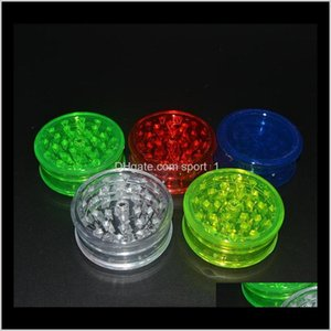 Other 3Layer Plastic Herb Grinder 60Mm Smoke Detectors Pipe Acrylic Grinders For Twisty Glass Blunt Smoking Accessories Gga1114 Ip3Zp It9Ns